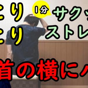 首こり肩こりがラクになる1分間ストレッチvol.2【首の横にハリを感じる】【ストレートネック】【スマホ首】